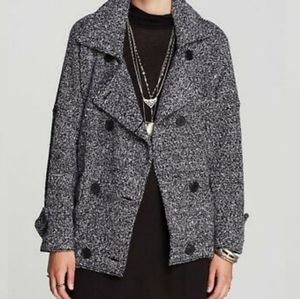 Free People Slouchy Moto Jacket Black Combo Color